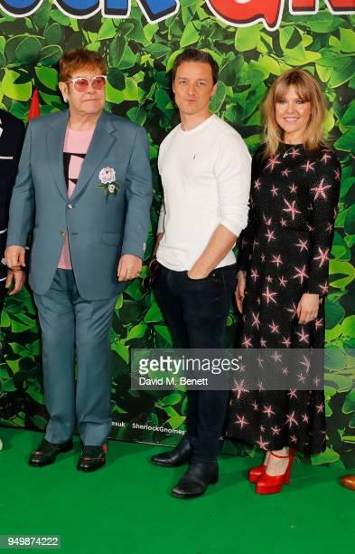 Sir Elton John James McAvoy and Ashley Jensen attend the Family Gala Screening of Sherlock Gnomes hosted by Sir Elton John and David Furnish at...