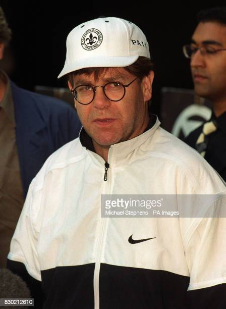 Sir Elton John leaving the Wellington Hospital in north London an operation to have a heart pacemaker fitted The pop superstar said his heart...