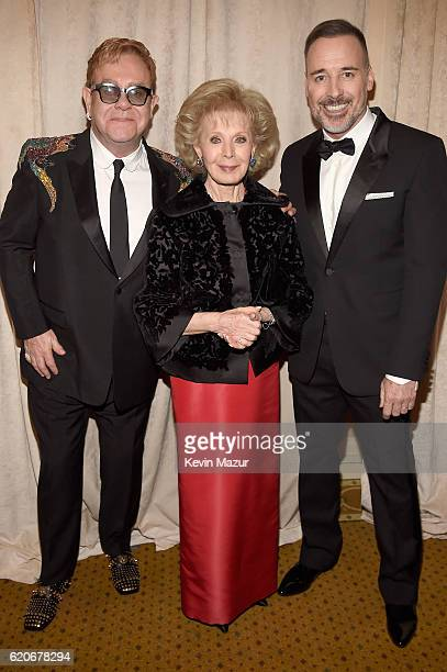 Sir Elton John Lily Safra and David Furnish attend 15th Annual Elton John AIDS Foundation An Enduring Vision Benefit at Cipriani Wall Street on...