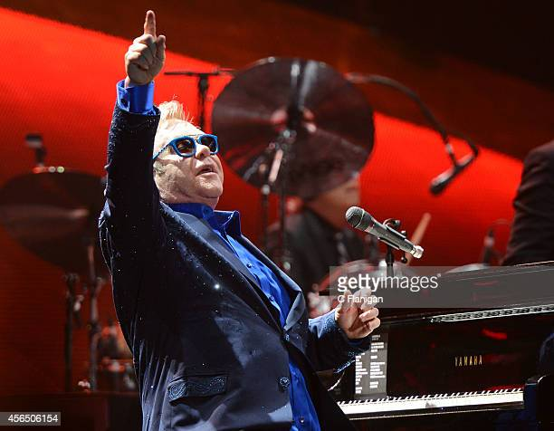 Sir Elton John performs at the Sleep Train Arena on October 1 2014 in Sacramento California