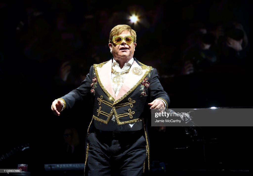 Elton John In Concert - New York, NY : News Photo