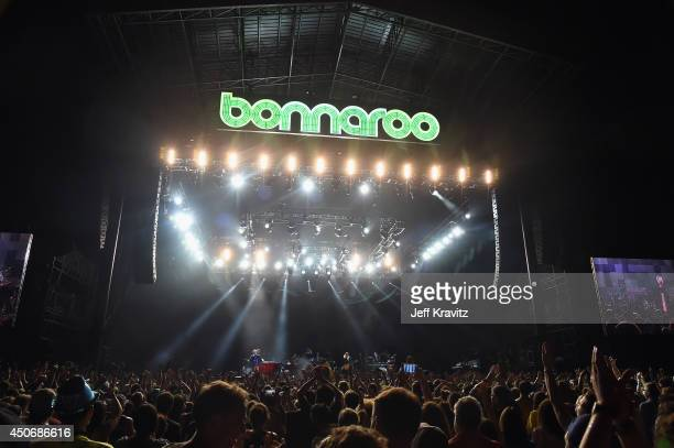 Sir Elton John performs onstage at What Stage during day 4 of the 2014 Bonnaroo Arts And Music Festival on June 15 2014 in Manchester Tennessee