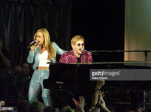 Sir Elton John performs with Anastacia at Madison Square Garden in New York City, New York on Friday October 20, 2000. Tonights performance will be...