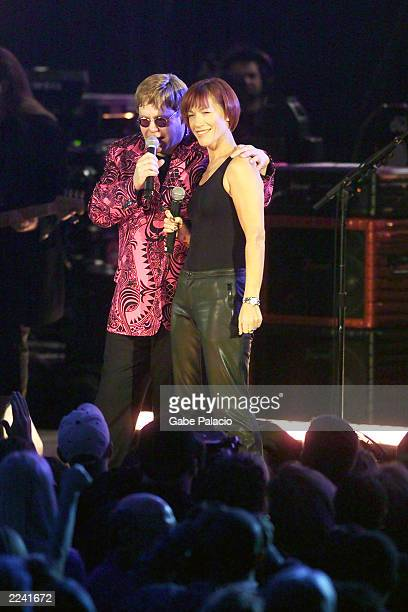 Sir Elton John performs with Kiki Dee at Madison Square Garden in New York City New York on Friday October 20 2000 Tonights performance will be...