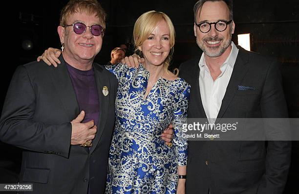 """Sir Elton John, Sally Greene and David Furnish attend as """"Billy Elliot The Musical"""" celebrates its 10th Anniversary in London's West End at the..."""