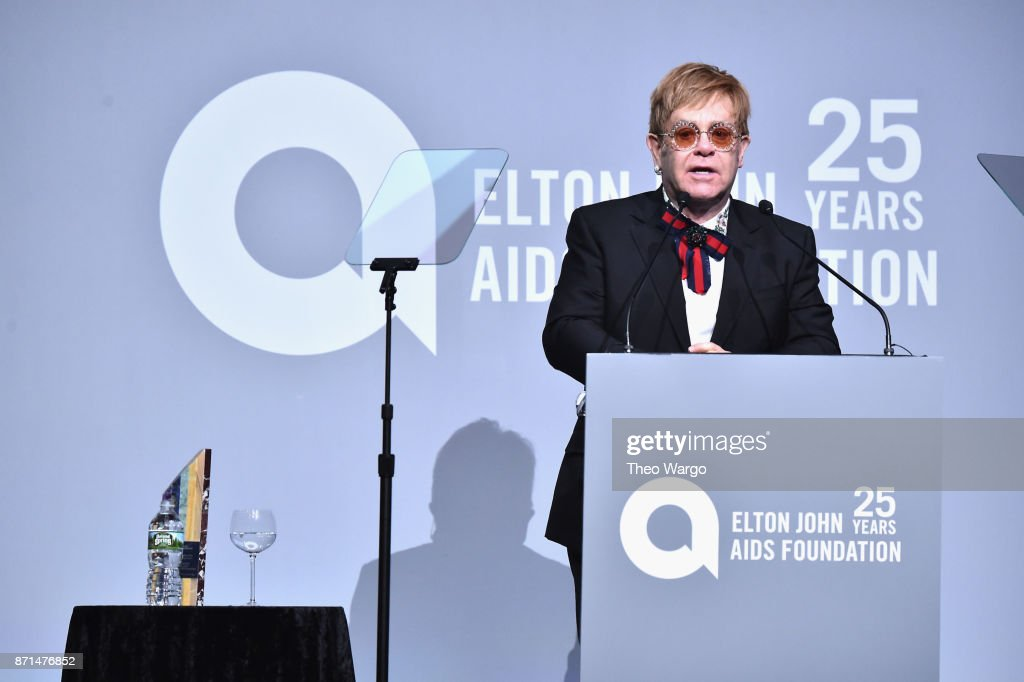 Elton John AIDS Foundation Commemorates Its 25th Year And Honors Founder Sir Elton John During New York Fall Gala - Show : News Photo