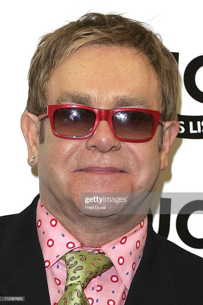 Sir Elton John won The MOJO Hall of Fame during Mojo Honours List 2006 - Press Room at Shoreditch Town Hall in London, Great Britain.