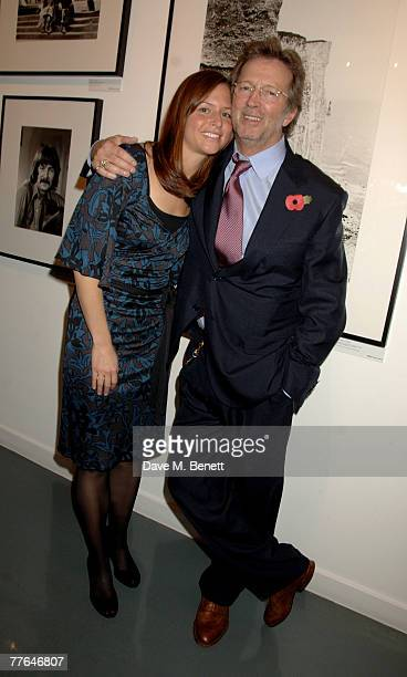 Sir Eric Clapton with wife Melia McEnery attend a private view of photographs dedicated to Sir Eric Clapton to celebrate his latest book 'Eric...