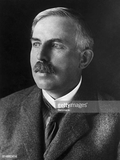 Sir Ernest Rutherford , British physicist and Nobel Prize winner for Chemistry in 1908. Undated photograph.
