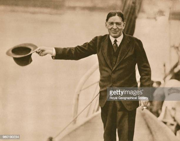 Sir Ernest Shackleton Southward on the Quest, Antarctica, 1921. Shackleton-Rowett Quest 1921-1922 Expedition.
