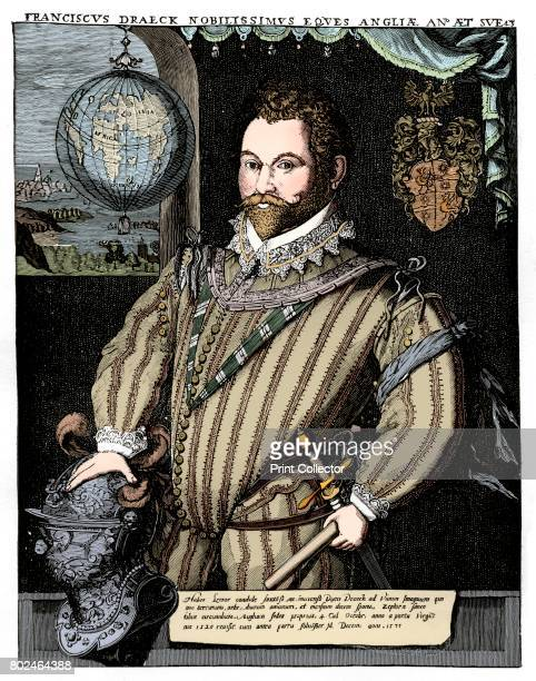Sir Francis Drake 16th century Portrait of the English seacaptain at the age of 43 wearing a peascod doublet This garment had a ridge down the front...