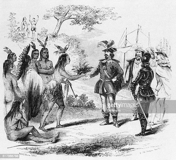 Sir Francis Drake and the Californian Indians Undated illustration