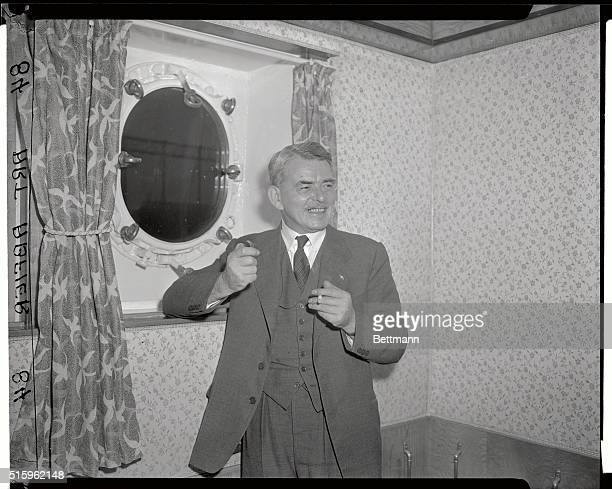Sir Frank Whittle the inventor of the jet engine is shown here aboard the Queen Mary