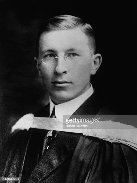 Sir Frederick Banting the Canadian physiologist He shared the 1923 Nobel Prize for medicine or physiology for his discovery of insulin