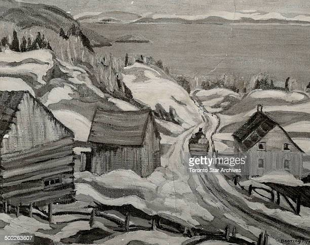 Sir Frederick Banting was famous for art as well as science and this snowscape at Cap aux Oies Quebec is considered one of his finest paintings He...