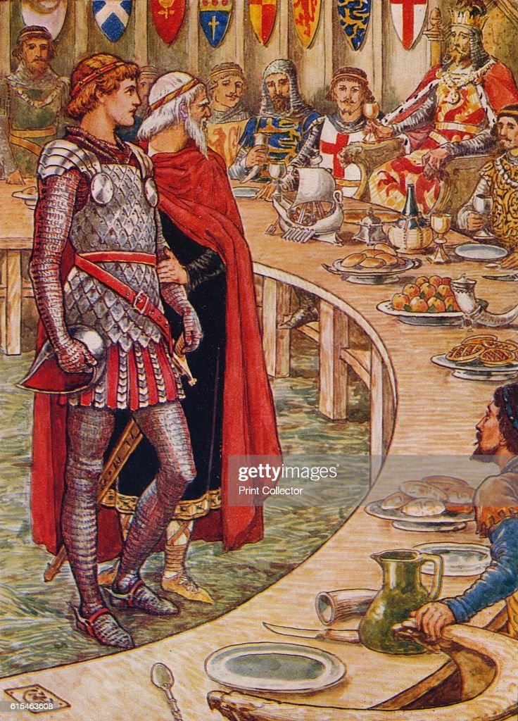 Image result for Arthur and three of his knights