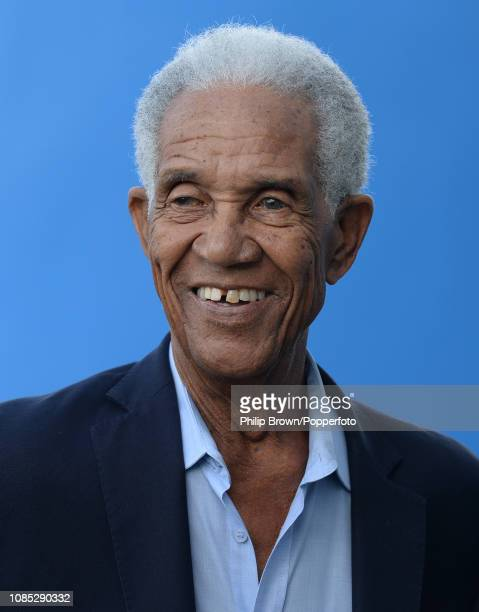 Sir Garfield Sobers smiles during a West Indies training session at Kensington Oval on January 19, 2019 in Bridgetown, Barbados.