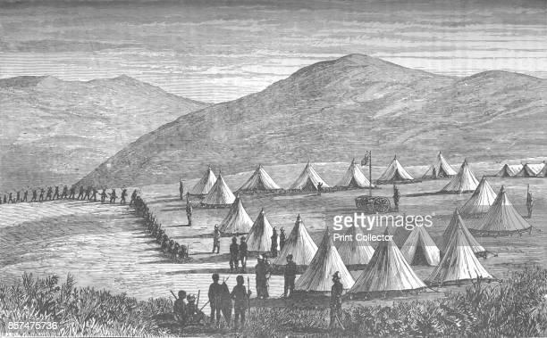 Sir Garnet Wolseley's Camp at Ulundi Zulus Coming In To Give Up Their Arms' circa 1880 Episode of the AngloZulu Wars From British Battles on Land and...