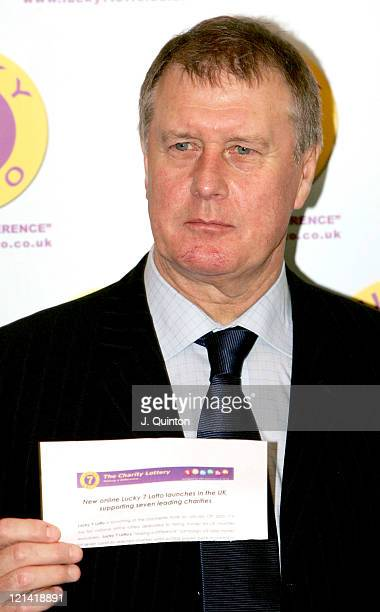 Sir Geoff Hurst during Lucky 7 Lotto - Photocall at Dorchester Hotel in London, Great Britain.