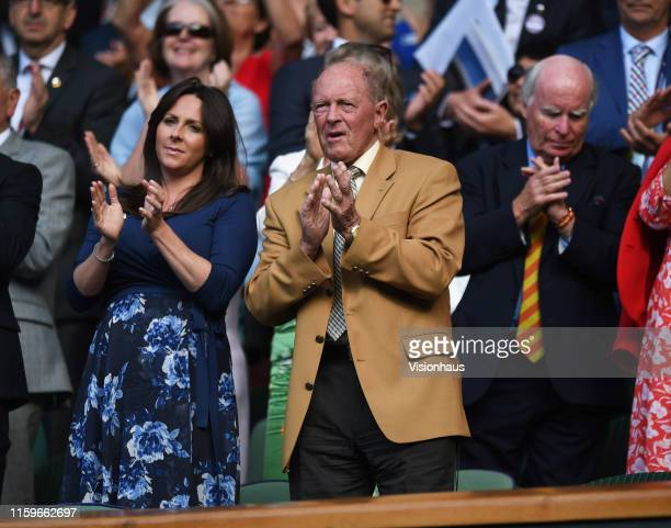 Sir Geoffrey Boycott in the royal box during Day Two of The Championships - Wimbledon 2019 at All England Lawn Tennis and Croquet Club on July 2,...