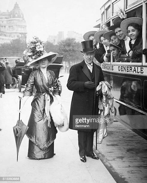 Sir George Alexander famous British actor producer and manager with Lady Alexander around 1900