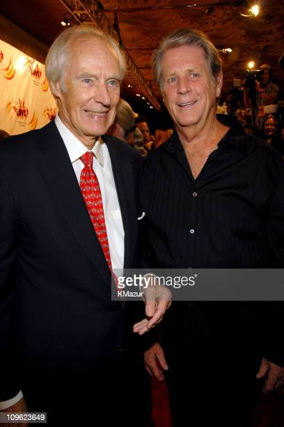 Sir George Martin and Brian Wilson during LOVE Cirque du Soleil Celebrates the Musical Legacy of The Beatles Red Carpet at The Mirage Hotel and...