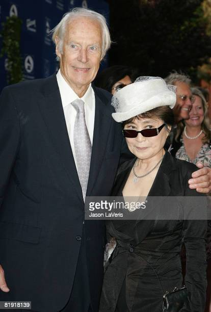 Sir George Martin and Yoko Ono attend the Grammy Foundation's Annual Signature Starry Night Gala at USC on July 12 2008 in Los Angeles California