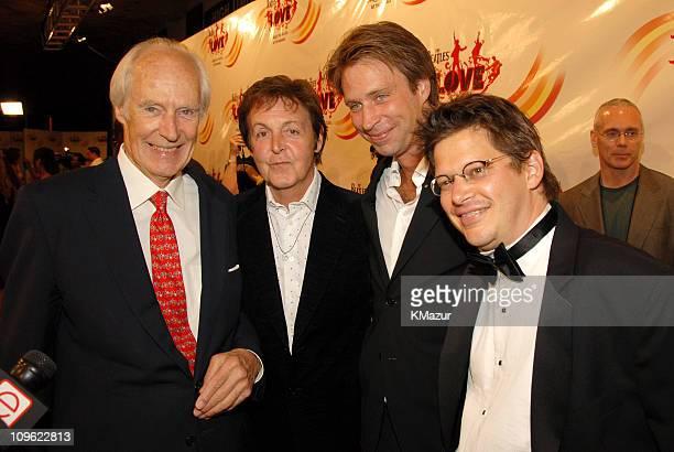 Sir George Martin Sir Paul McCartney Giles Martin and director Dominic Champagne