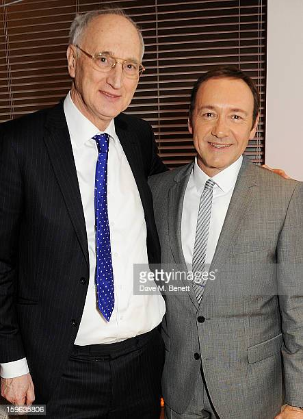 Sir George Young and Kevin Spacey attend an after party celebrating the Red Carpet Premiere of the Netflix original series 'House of Cards' at Asia...