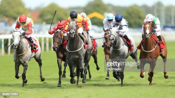 Sir Graham Wade ridden by Kieren Fallon wins The Ladbrokes Mallard Stakes during the Ladbrokes St Leger Festival at Doncaster Racecourse