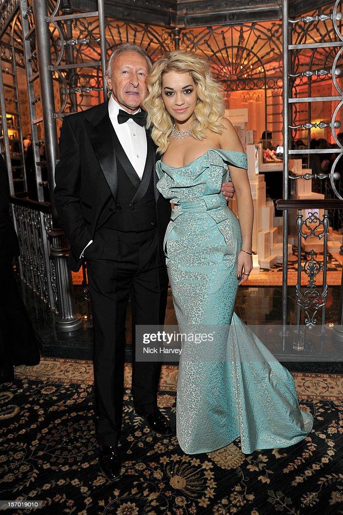 Sir Harold Tillman and Rita Ora attend the British Fashion Awards 2012 at The Savoy Hotel on November 27, 2012 in London, England.