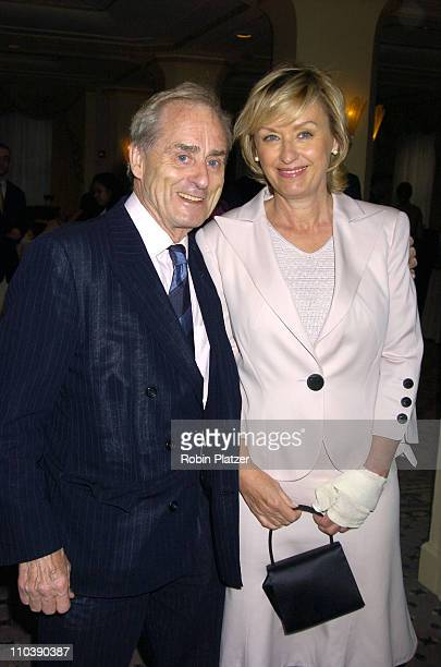 Sir Harry Evans and Tina Brown during The Phoenix House Benefit Honors Jeff Zucker with Phoenix Rising Award at The Waldorf Astoria Hotel in New York...