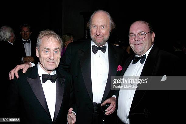 Sir Harry Evans Ed Victor and Paul McGuinness attend The PEN American Center's 2008 Literary Gala at American Museum of Natural History on April 28...