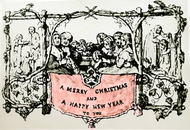 the earliest printed christmas card pictures getty images