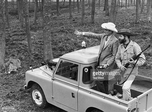 Sir Henry Frederick Thynne 6th Marquess of Bath tours the lion reserve at Longleat Safari Park his family seat in Wiltshire 4th April 1966...