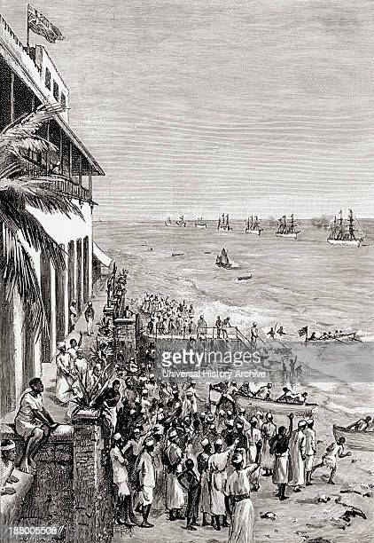 Sir Henry Morton Stanley's Emin Pasha Relief Expedition Returning To Zanzibar On Board HMSs Turquoise And Somali The German Warships Sperber And...