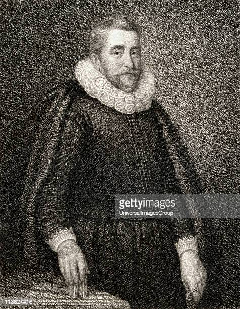 Sir Henry Wotton 15681639 English poet and diplomat From the book 'Lodge's British Portraits' published London 1823