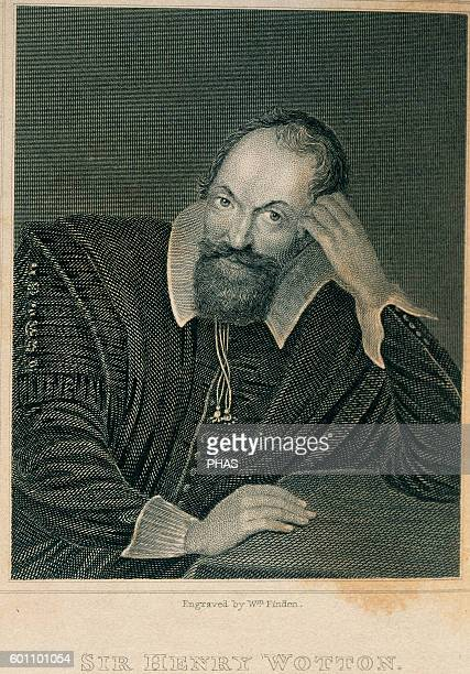 Sir Henry Wotton English poet and diplomat Engraving 18th century