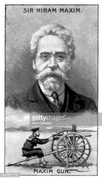 Sir Hiram Stevens Maxim inventor of the Maxim Gun Hiram Stevens Maxim invented the first portable fully automatic machine gun in 1884