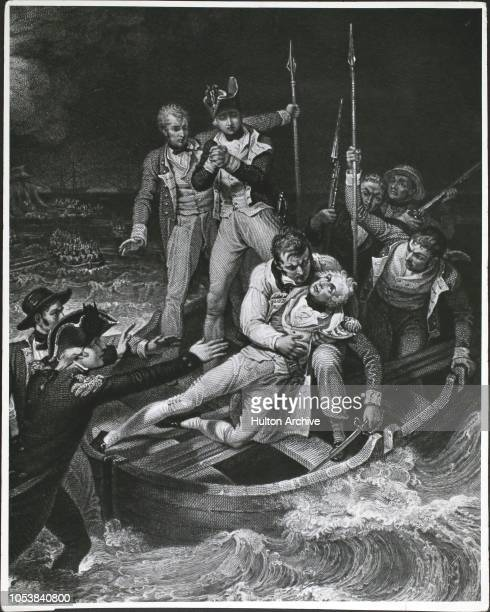 Sir Horatio Nelson Wounded at Teneriffe after the Battle of Santa Cruz de Tenerife on the Canary Islands night of July 24th 1797 After Richard Westall