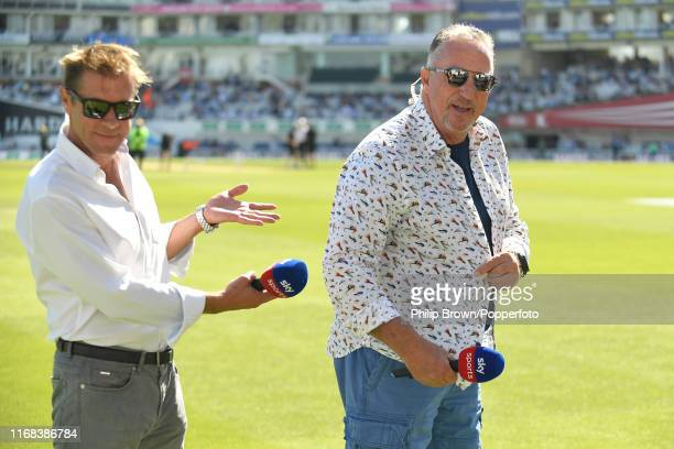 Sir Ian Botham and Ian Ward of Sky Sports during the lunch break on the fourth day of the fifth Specsavers test match between England and Australia...