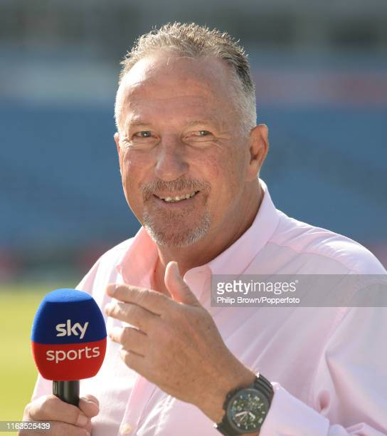 Sir Ian Botham looks on before the third day of the third Specsavers test match between England and Australia at Headingley Cricket Ground on August...