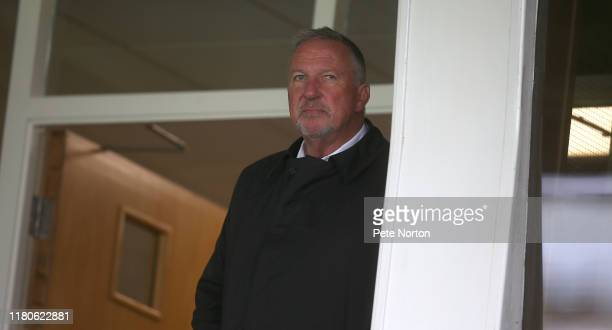 Sir Ian Botham looks on during the Sky Bet League Two match between Scunthorpe United and Northampton Town at Sands Venue Stadium on October 12, 2019...