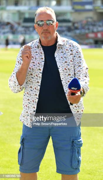Sir Ian Botham of Sky Sports during the lunch break on the fourth day of the fifth Specsavers test match between England and Australia at the Kia...