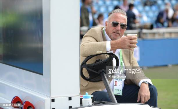 Sir Ian Botham of Sky Sports pictured before the 3rd Royal London One-Day International between England and India at Headingley on July 17, 2018 in...