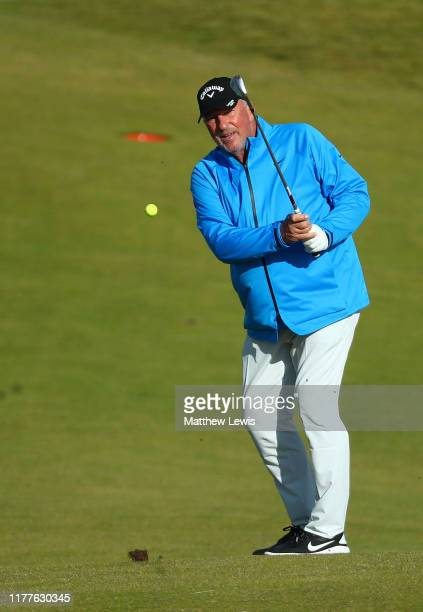 Sir Ian Botham on the 5th hole during Day three of the Alfred Dunhill Links Championship at Kingsbarns Golf Links on September 28, 2019 in St...