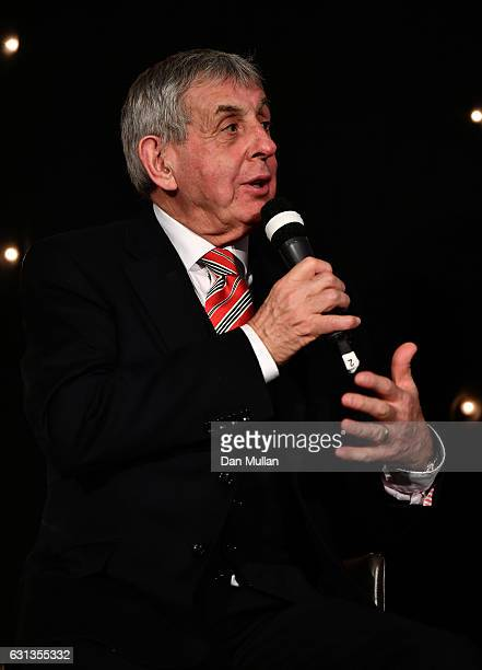 Sir Ian McGeechan speaks during the Rugby Union Writers' Club Annual Dinner Awards at the London Marriott Hotel Grosvenor Square on January 9 2017 in...