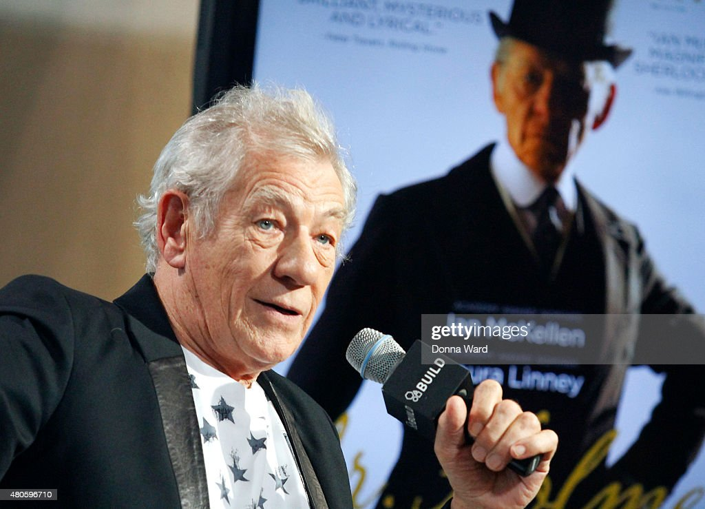 Sir Ian McKellan discusses 'Mr Holmes' during the AOL Build Series at AOL Studios In New York on July 13, 2015 in New York City.