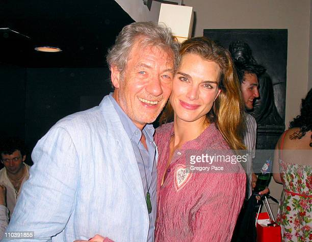 Sir Ian McKellen and Brooke Shields during The 24 Hour Plays Performance Benefit Gala for the Old Vic Theatre After Party at Old Vic in London Great...