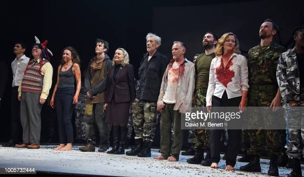 Sir Ian McKellen and cast attend the press night after party for King Lear at No11 Carlton House Terrace on July 26 2018 in London England